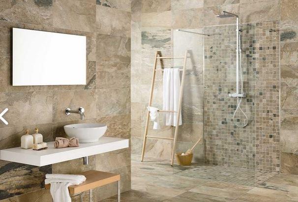 Rivestimento bagno ristrutturazione milano - Rivestimento bagno effetto pietra ...